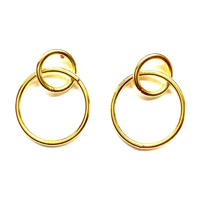 Pendientes DUOCIRCLE Oro