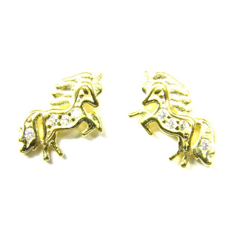 Pendientes Unicornio Oro
