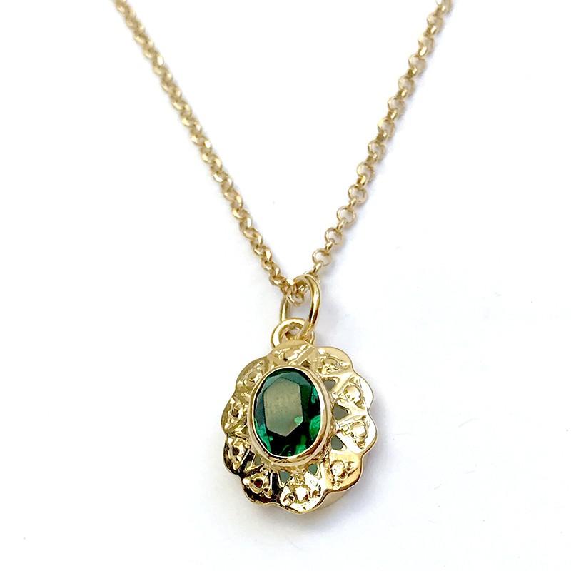 Colgante CUCARACHA Oro Esmeralda
