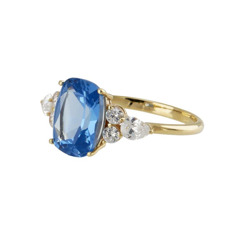 Anillo BLUE GOLD BARREL