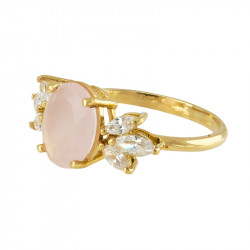 Anillo Pink Oval GOLD