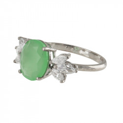 Anillo Green Oval GOLD