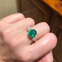 Anillo Green Intenso Oval GOLD